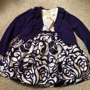 Gymboree Purple Formal Dress With Cardigan NWT
